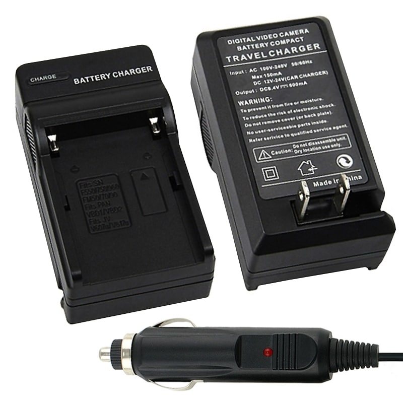 INSTEN Black Compact Battery Charger Set for Sony NP-FM500H