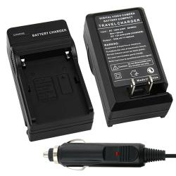 BasAcc Black Compact Battery Charger Set for Sony NP-FM500H