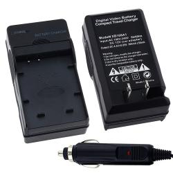 BasAcc Black Compact Battery Charger Set for Nikon EN-EL12