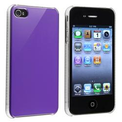Shiny Purple Snap-on Case for Apple iPhone 4/ 4S