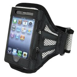 BasAcc Apple iPhone/ iPod Touch Black/ Silver Deluxe Armband Case