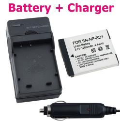 BasAcc Sony NP-BD1 Battery and Charger Set