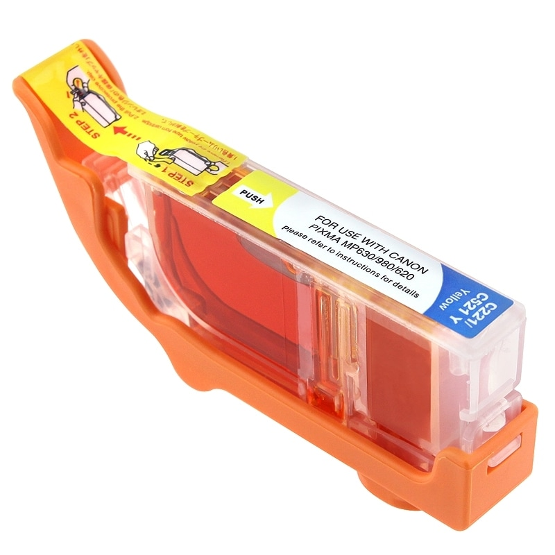 INSTEN Canon CLI-221Y Compatible Yellow Ink Cartridge