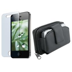 BasAcc Wallet Case/ Screen Protector for Apple iPhone 4