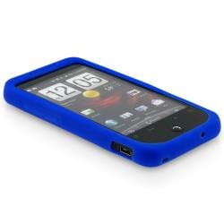 INSTEN HTC Droid Incredible Blue Silicone Skin Phone Case Cover