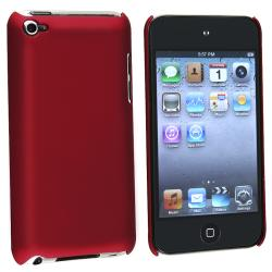 BasAcc Wine Red Rubber Coated Case for Apple iPod Touch 4