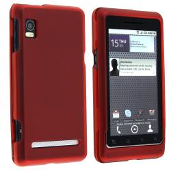 BasAcc Wine Red Rubber Coated Case for Motorola A955 Droid 2