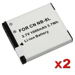 BasAcc Battery for Canon NB-8L A3000/ A3100 (Pack of 2)
