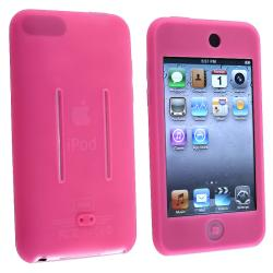 INSTEN Hot Pink Soft Silicone Skin iPod Case Cover for Apple iPod Touch 1st/ 2nd/ 3rd