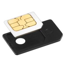 Black PVC-plastic Micro SIM Card Plug-in Adapter Cellphone Accessory