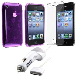 TPU Case/ Screen Protector/ Car Charger for Apple iPhone 3G
