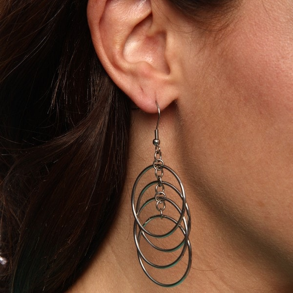 Inox Stainless Steel Multi-circle Earrings