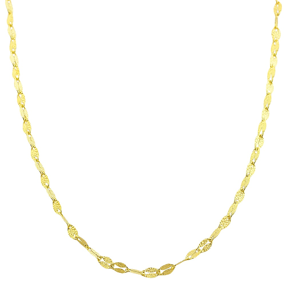 Fremada 10k Yellow Gold 2.2-mm Textured Flat Link Chain