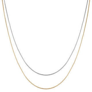 18-inch 10-karat Gold Venetian Box Chain with Spring Ring Clasp