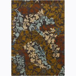 Hand-Tufted Mandara Multicolor Floral Wool Rug (7' x 10')