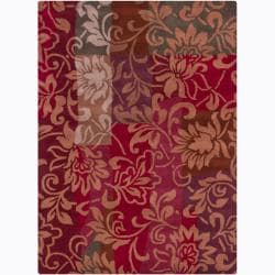 Hand-Tufted Mandara Floral Multicolor Wool Rug (7' x 10')