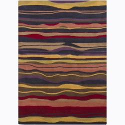 Contemporary Hand-Tufted Mandara Abstract Wool Rug (5' x 7')