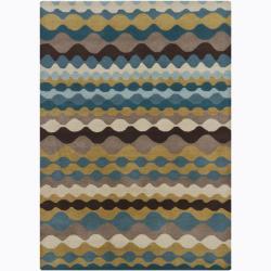 Hand-Tufted Multicolor Mandara Abstract Wool Area Rug (5' x 7')
