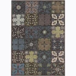 Hand-Tufted Mandara Floral Wool Multicolor Rug (5' x 7')