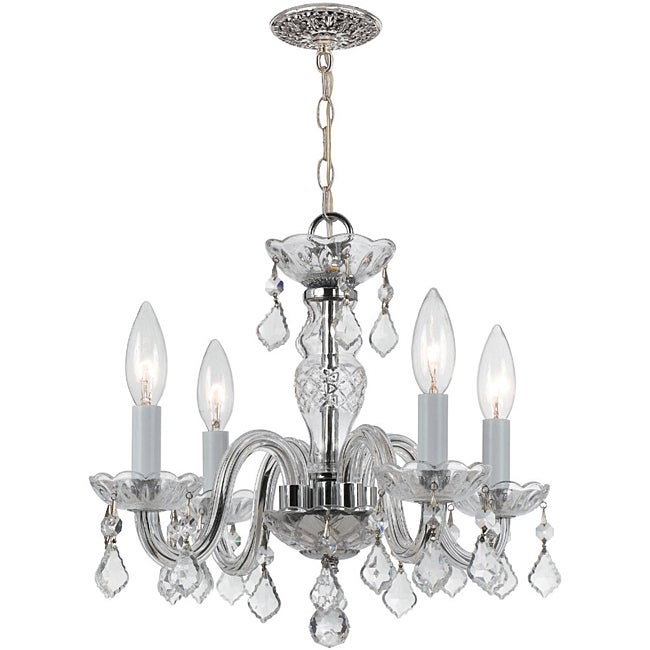 Crystal 4-light Chrome Finish Chandelier