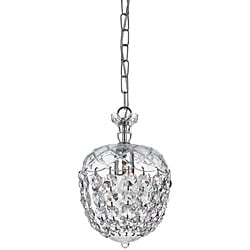 Crystal 1-Light Polished-Chrome Pendant Chandelier