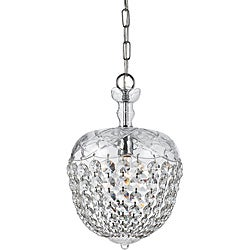 Crystal 1-light Polished Chrome Pendant