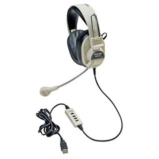 Califone Stereo Headphone W/ Boom Mic USB Via Ergoguys