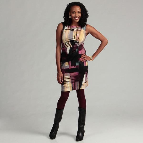 Calvin Klein Women's Ponte Printed Dress