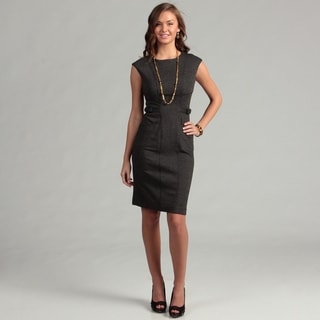 Calvin Klein Women's Black Belt Detail Dress