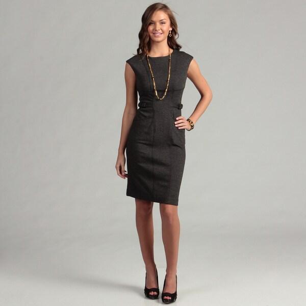 Calvin Klein Women's Black Belt Detail Dress