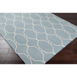Jill Rosenwald Hand-woven Blue Masoleum Wool Rug (9' x 13')
