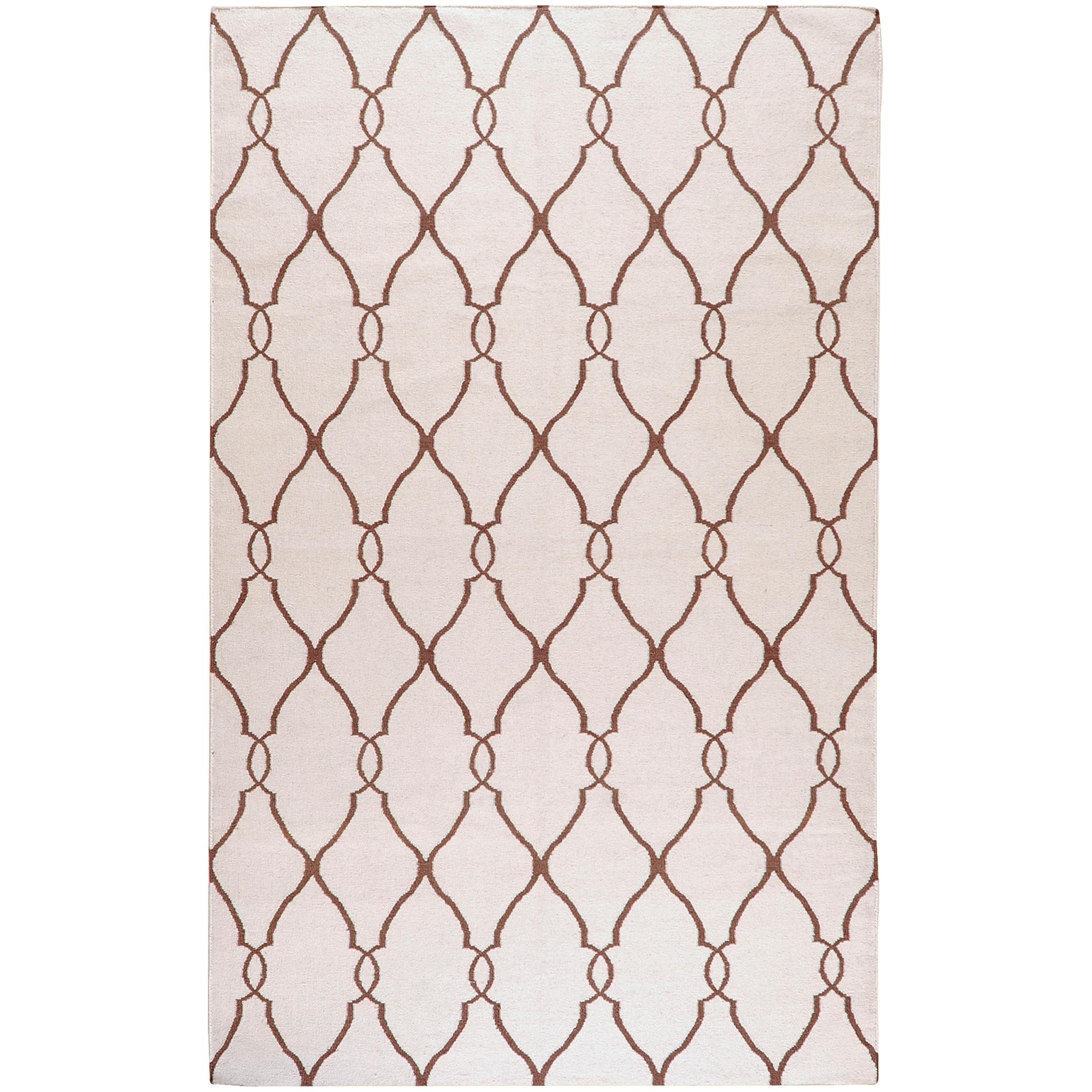 Jill Rosenwald Hand-woven Colossus Ivory Flatweave Wool Rug (3'6 x 5'6)