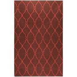 Jill Rosenwald Hand-woven Brown Ishtar Wool Rug (9' x 13')