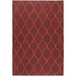Jill Rosenwald Hand-woven Pink Catacomb Wool Rug (9' x 13')