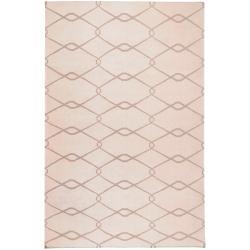 Jill Rosenwald Hand-woven White Hagia Wool Rug (3'6 x 5'6)