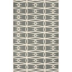 Jill Rosenwald Hand-woven Green Itapu Wool Rug (3'6 x 5'6)