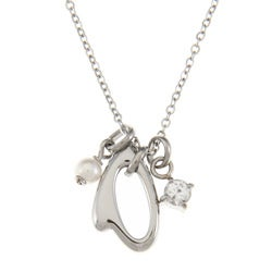 Fossil Jewelry Women's Stainless Steel heart Necklace