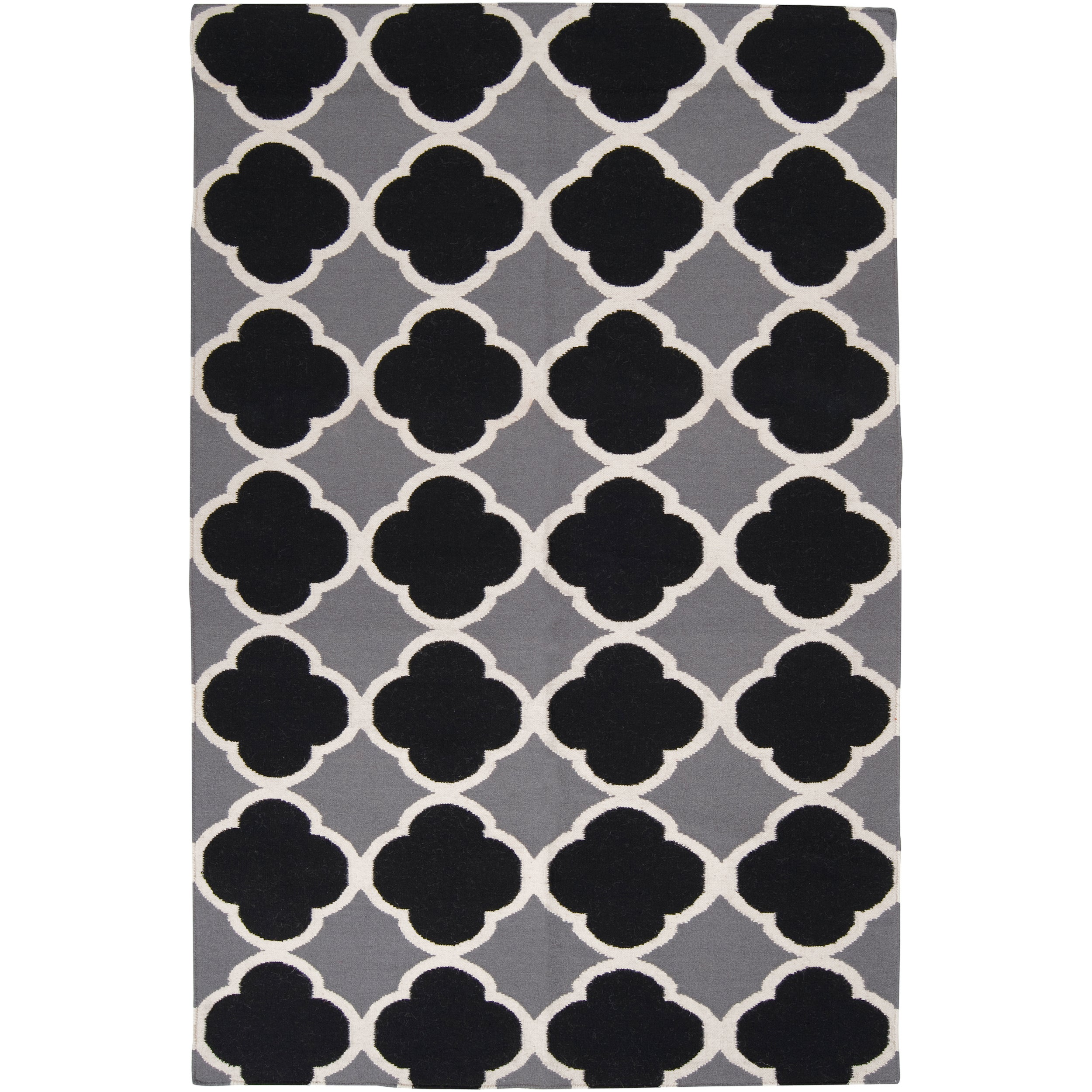 Hand-woven Grey Wool Bohlin Reversible Rug (8' x 11')