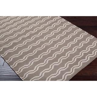 Hand-woven Tan Wool Sheng Rug (3'6 x 5'6)