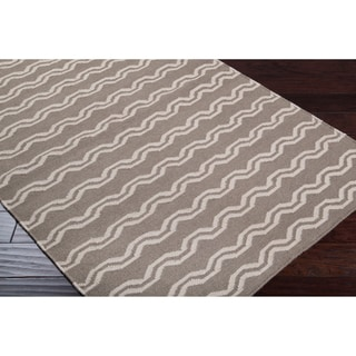 Hand-woven Tan Wool Sheng Rug (3&#39;6 x 5&#39;6)