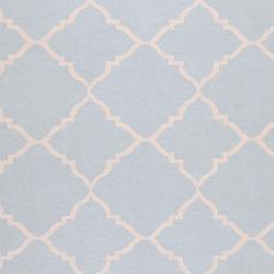 Hand-woven Blue Wool Baylis Rug (3'6 x 5'6)