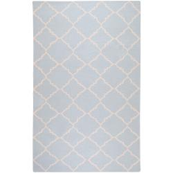Hand-woven Blue Wool Baylis Rug (3'6 x 5'6)