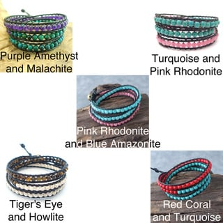 ChicTriple Wrap Leather Bracelet (Thailand)