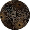 Hand-tufted Brown Contemporary Genrich Wool Abstract Rug (8' Round)