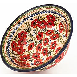 Polish Stoneware Flared-Top Serving Bowl