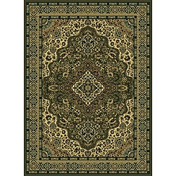Traditional Caroline Sage Area Rug (5'5 x 7'7)