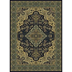 Admire Home Living Traditional Caroline Navy Area Rug (5'5 x 7'7)