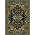 Traditional Caroline Navy Area Rug (5'5 x 7'7)