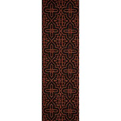 Power-loomed Moresque Charcoal Rug (2'6 x 8')