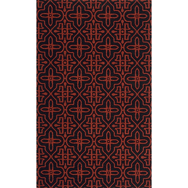 Power-loomed Moresque Charcoal Rug (8' x 10')